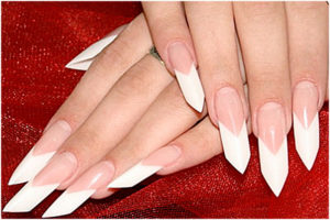 Форма нарощенных ногтей ейдж